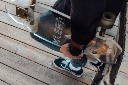klear skateboard transparent